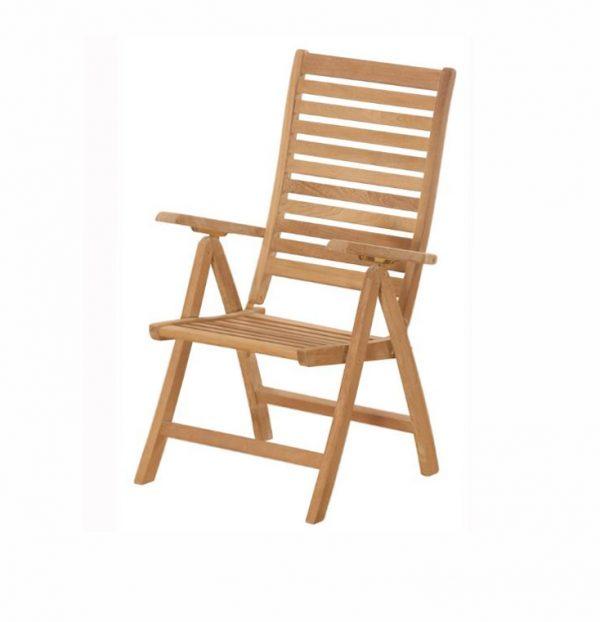 MORITZ TEAK FOLDING RELAXING RECLINING CHAIR